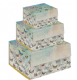 Set of 3 Butterfly  Design Square Boxes From Bug Art  BG0074